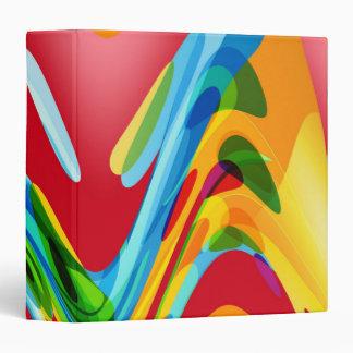 """Arte abstracto colorido retro carpeta 1 1/2"""""""