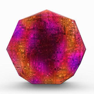 Arte abstracto colorido, rosa anaranjado púrpura