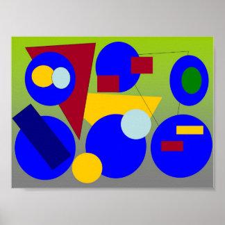 Arte abstracto - conclusión de la primavera impresiones