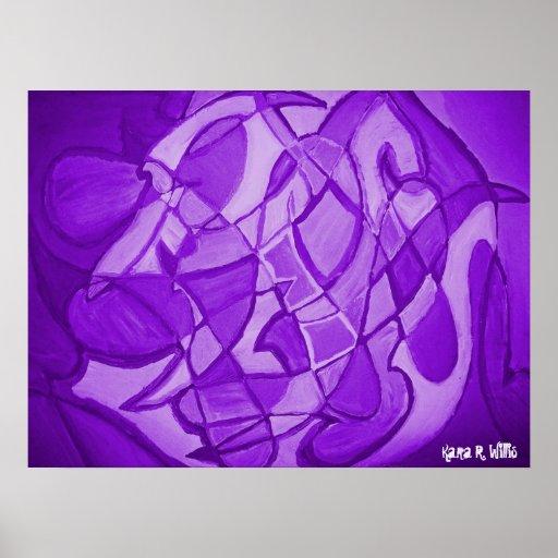 Arte abstracto contemporáneo ultravioleta impresiones