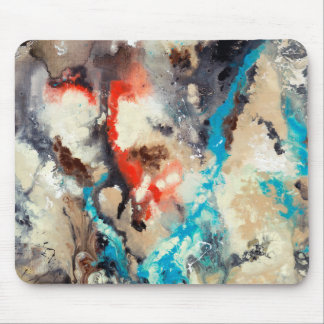 Arte abstracto - contra la corriente mousepad