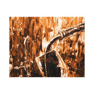 Arte abstracto creativo de la pared del vino fino lona estirada galerias