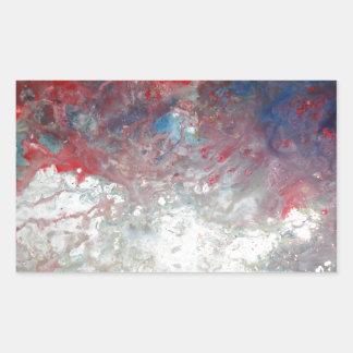 Arte abstracto creativo pegatina rectangular