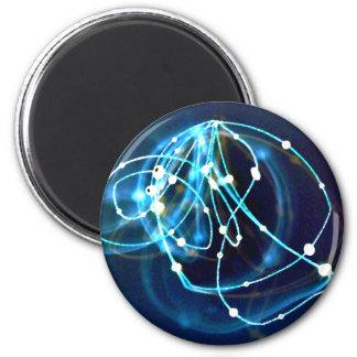Arte abstracto de CricketDiane de la atomicidad 3 Iman De Frigorífico