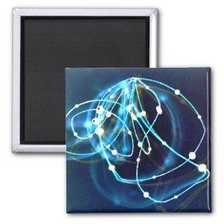Arte abstracto de CricketDiane de la atomicidad 3 Imán