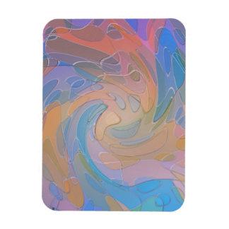 Arte abstracto de cristal simulado pastel colorido rectangle magnet