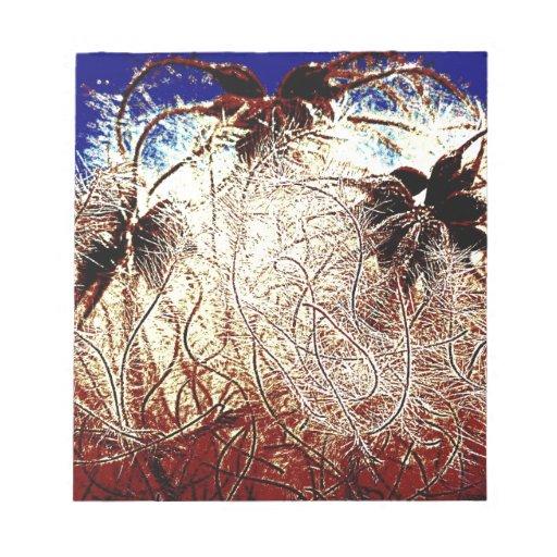 Arte abstracto de Digitaces de la imagen del Clema Bloc De Papel