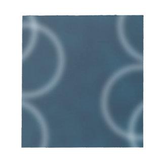 Arte abstracto de Digitaces de la ondulación azul Libretas Para Notas