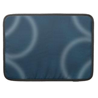 Arte abstracto de Digitaces de la ondulación azul Fundas Macbook Pro