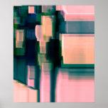 """Arte abstracto de Digitaces de la """"tinta"""" Poster"""