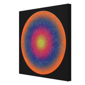 Arte abstracto de Digitaces del círculo Lona Envuelta Para Galerías