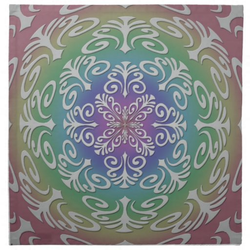 Arte abstracto de Digitaces en sombras del arco ir Servilletas De Papel