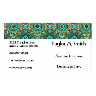Arte abstracto de estrella del damasco decorativo  tarjetas de visita