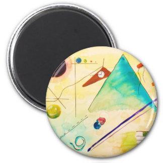 Arte abstracto de Kandinsky Imán Redondo 5 Cm