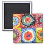 Arte abstracto de Kandinsky Imán Cuadrado