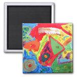 Arte abstracto de Kandinsky Iman Para Frigorífico