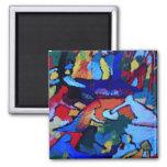 Arte abstracto de Kandinsky Imán Para Frigorífico