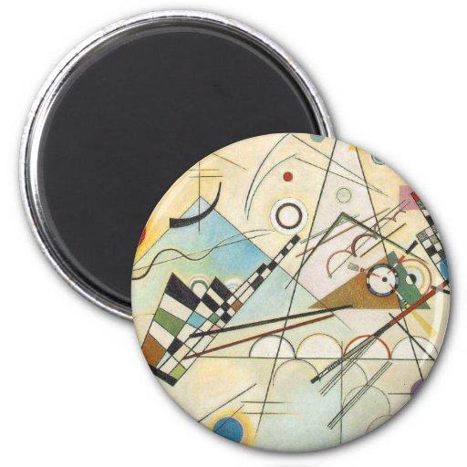 Arte abstracto de Kandinsky Imanes