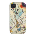 Arte abstracto de Kandinsky iPhone 4/4S Carcasa