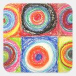 Arte abstracto de Kandinsky Pegatina Cuadrada