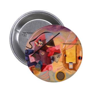 Arte abstracto de Kandinsky Pin Redondo De 2 Pulgadas