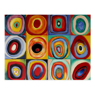 Arte abstracto de Kandinsky Postales