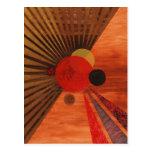 Arte abstracto de Kandinsky Tarjeta Postal