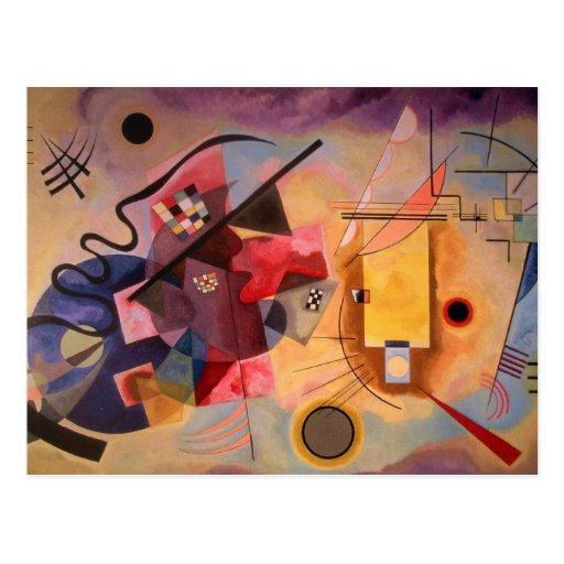 Arte abstracto de Kandinsky Tarjetas Postales