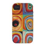 Arte abstracto de Kandinsky Vibe iPhone 4 Carcasas