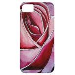 Arte abstracto de la acuarela macra color de rosa iPhone 5 carcasa