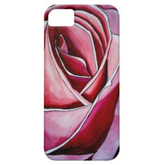 Arte abstracto de la acuarela macra color de rosa iPhone 5 cárcasa