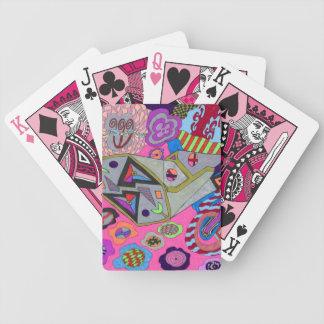 """Arte abstracto de la """"ala rota"""" baraja de cartas bicycle"""