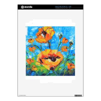 Arte abstracto de la amapola, pintura amarilla de calcomanías para iPad 2