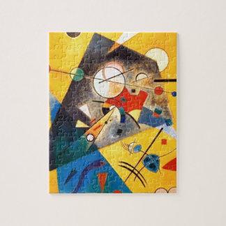 Arte abstracto de la armonía reservada de puzzles con fotos