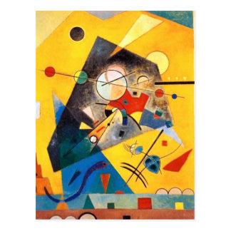 Arte abstracto de la armonía reservada de tarjeta postal