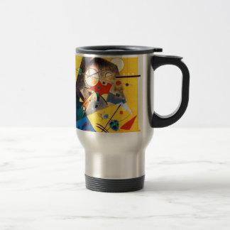 Arte abstracto de la armonía reservada de taza de viaje de acero inoxidable