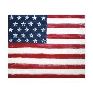 Arte abstracto de la bandera americana por el aceb
