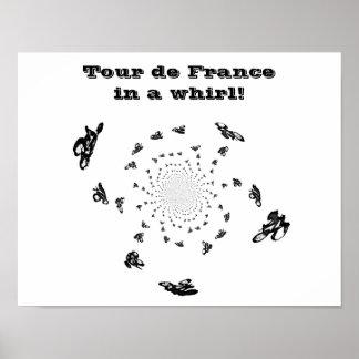 Arte abstracto de la bici del Tour de France