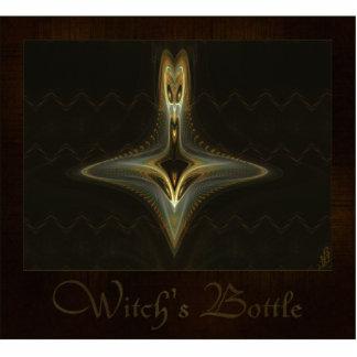 Arte abstracto de la botella de la bruja imán fotoescultura