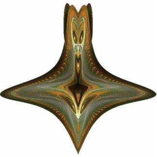 Arte abstracto de la botella de la bruja llavero fotográfico