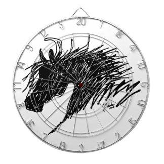 Arte abstracto de la cabeza de caballo tabla dardos