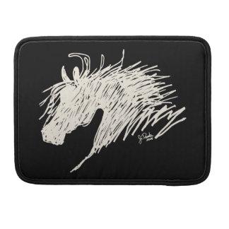 Arte abstracto de la cabeza de caballo funda macbook pro