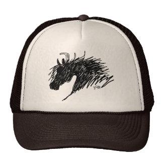 Arte abstracto de la cabeza de caballo gorras