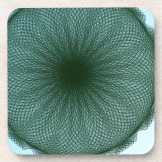 arte abstracto de la cal oscura verde posavasos de bebida