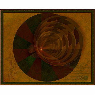 Arte abstracto de la canción del otoño escultura fotográfica