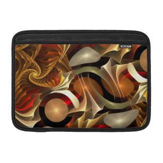 Arte abstracto de la ciencia ficción de cobre fundas MacBook