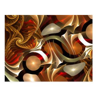 Arte abstracto de la ciencia ficción de cobre postal
