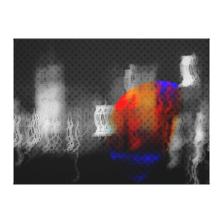 Arte abstracto de la ciudad extraña por Jensen Mer Impresión En Tela