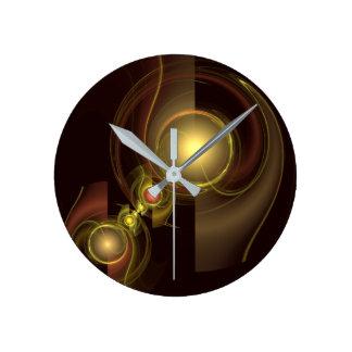Arte abstracto de la conexión íntima redondo reloj redondo mediano