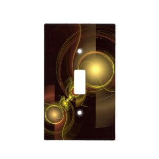 Arte abstracto de la conexión íntima tapa para interruptor